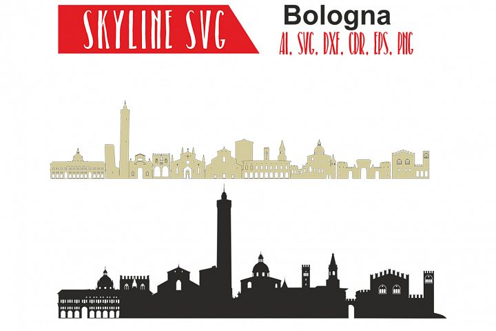 Bologna Svg, Italy city Vector Skyline