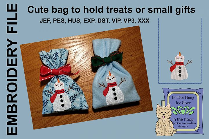 ITH Happy Snowman Treat Bag or Small Gift Bag