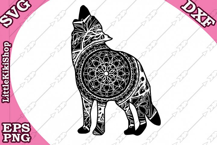 Wolf Svg ,Mandala Wolf Svg,Zentangle Wolf Svg,Cricut cut Svg