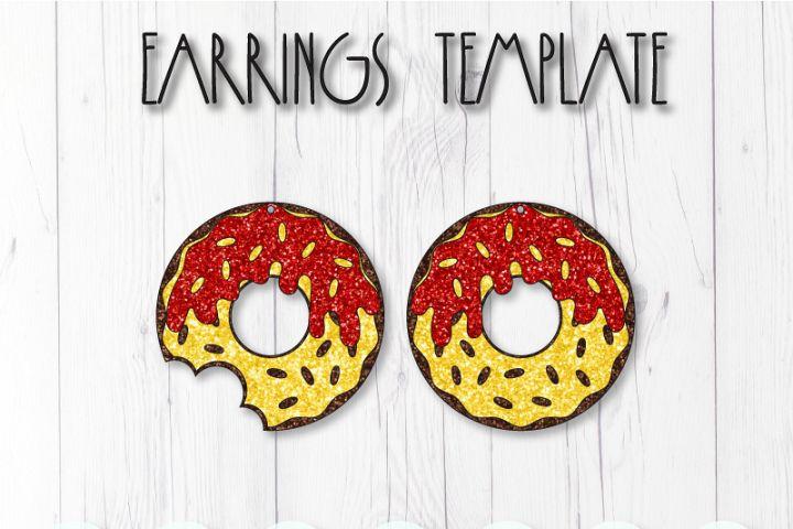 Donut earrings template SVG, DIY earrings template
