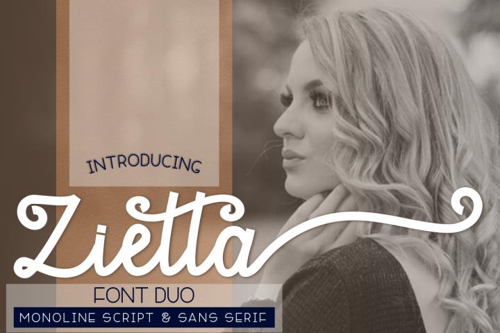 Zietta - Font Duo