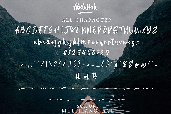 Abdullah Handbrush Typeface example image 8