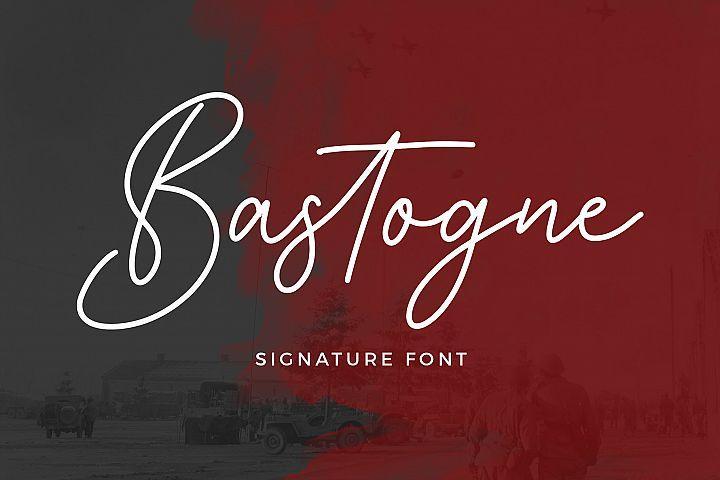 Bastogne Signature Font