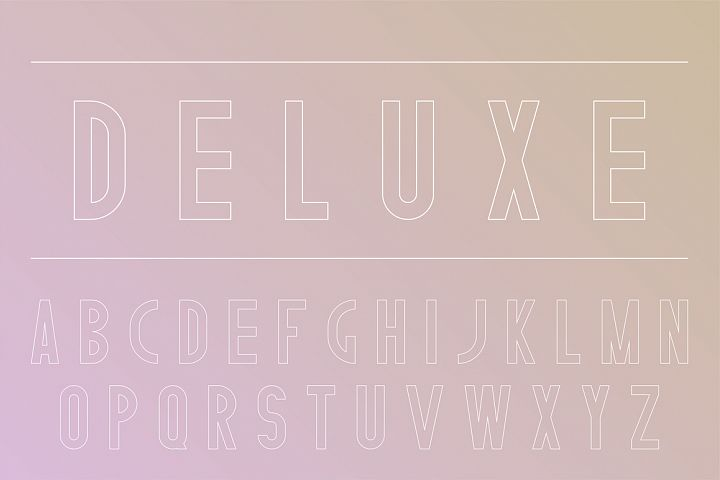 Stylish english alphabet