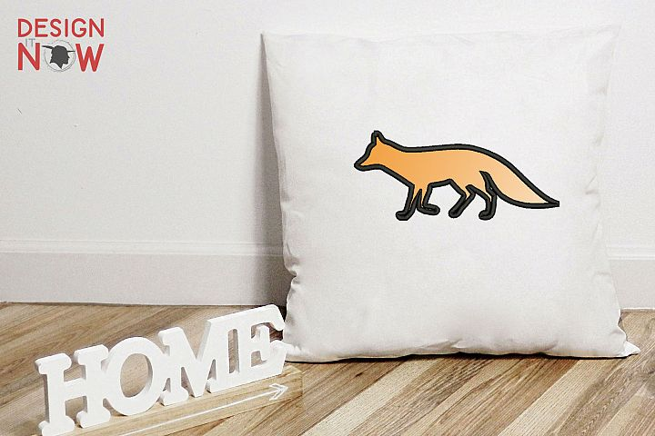 Fox Applique Design, Fox Embroidery Pattern, Animals Designs