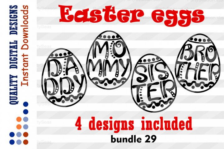 Easter eggs Bundle svg files for Cricut Cup Mug Plate
