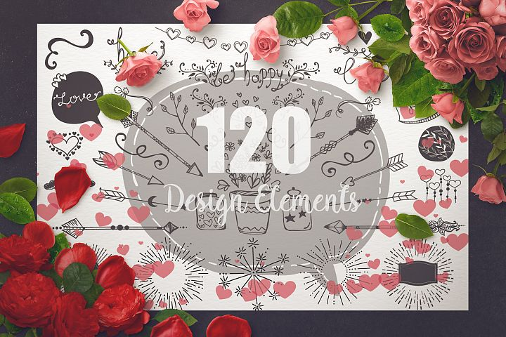 Romantic Vector Design Pack