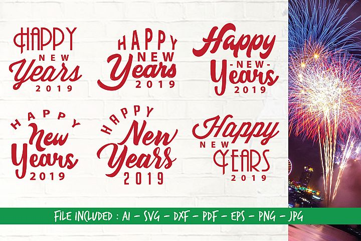 Digital Cutting Files_SVG_Happy New Years