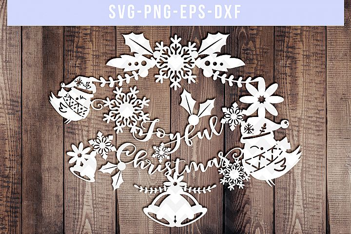 christmas svg cut file, snowflake svg, winter svg, floral