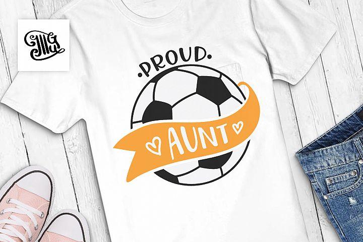 Proud soccer aunt
