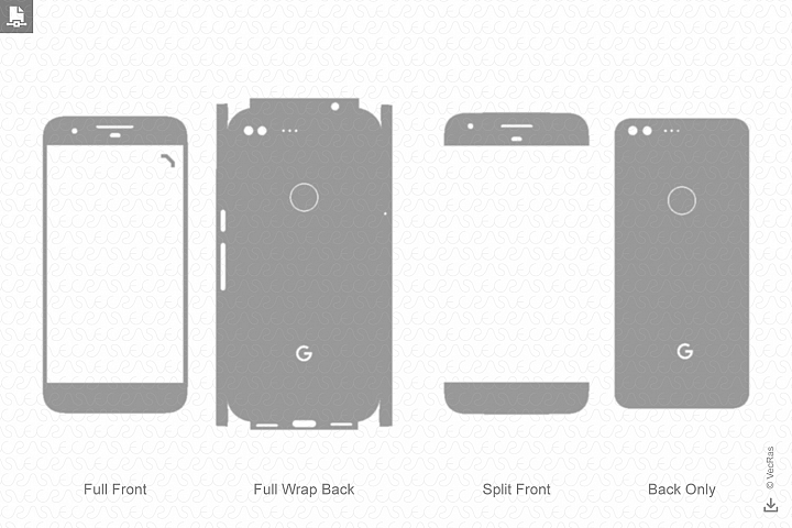 Google Pixel Skin Vector Cut File Template 2016