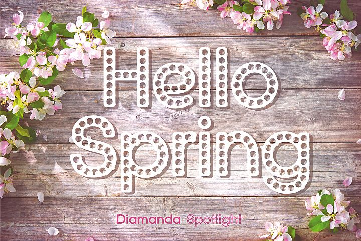 Diamanda Spotlight - Retro Stage Font