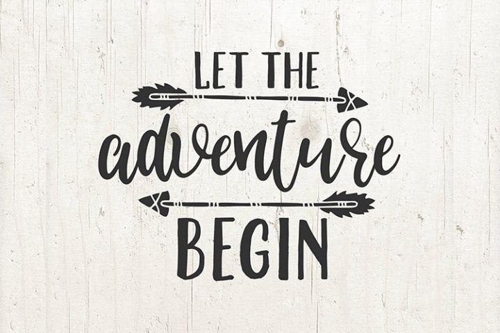 Let the adventure begin SVG file arrow design cricut file