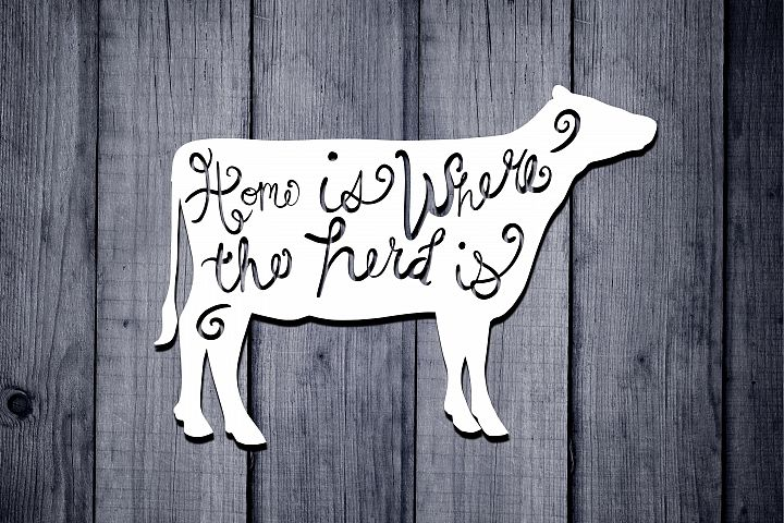 Cow Svg, Farm Life Svg, Home Is Where The Herd Is