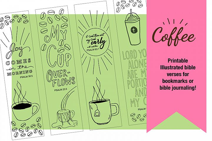 Printable Coloring page Coffee Themed Bible Verses