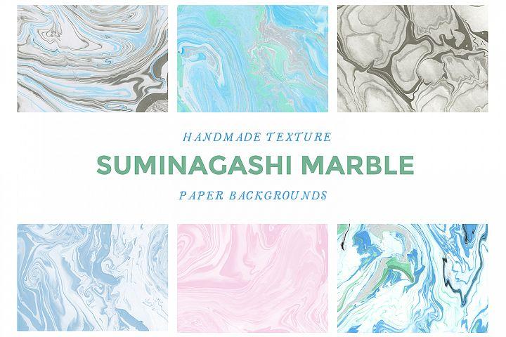 Suminagashi Marbled Paper Backgrounds