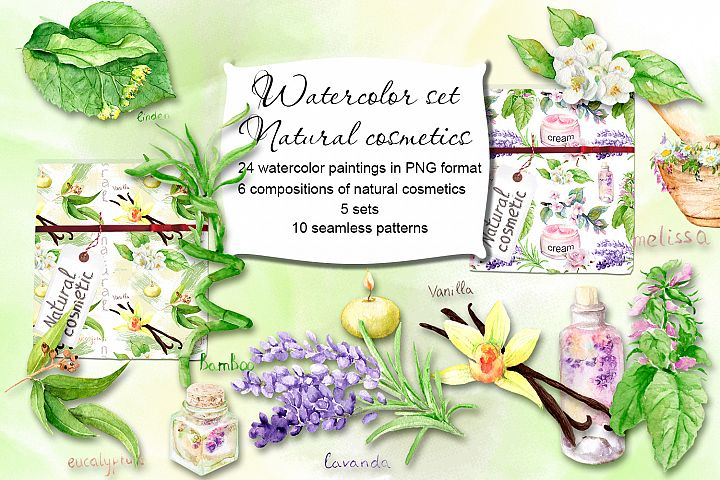 Watercolor set Natural cosmetics
