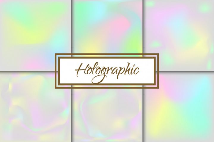 Holographic Neon Foggy Backgrounds