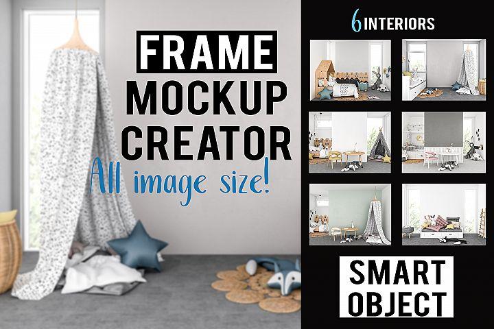 Frame mockup creator - Nursery Interiors Bundle