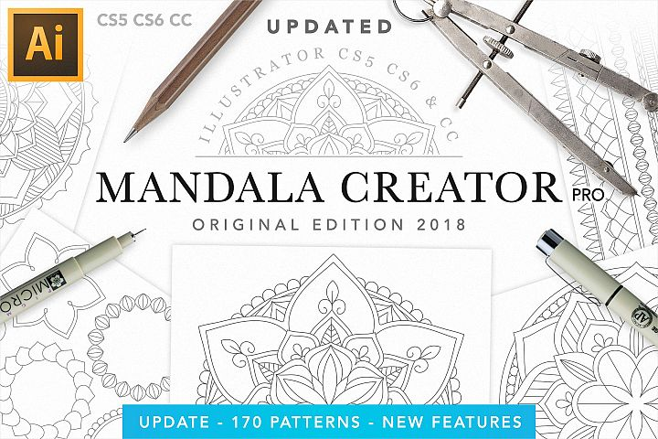 Vector Mandala Creator PRO for Illustrator