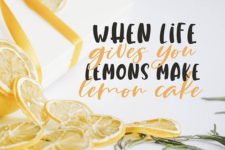 Lemony Cheesecake Font Duo example image 2