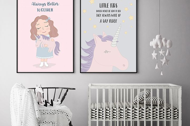 Cute Funny Unicorn Illustration Set - Free Design of The Week Design 3