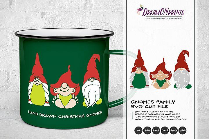 Christmas Gnome SVG| Gnomes Family
