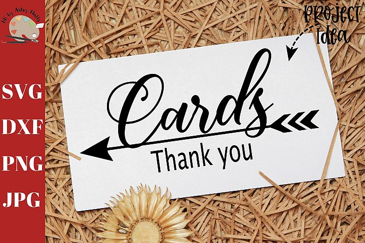 Cards Thank You svg dxf png, cards wedding box decal svg