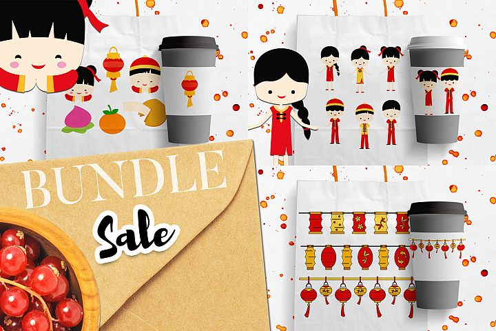 Chinese New Year Illustrations Bundle