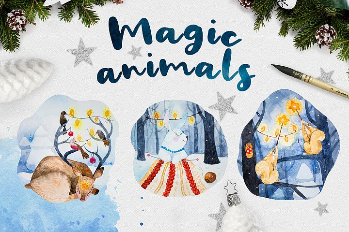 Magic animals.Merry Christmas
