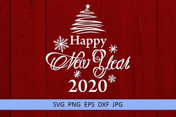 Christmas svg Happy new year 2020 svg Winter svg