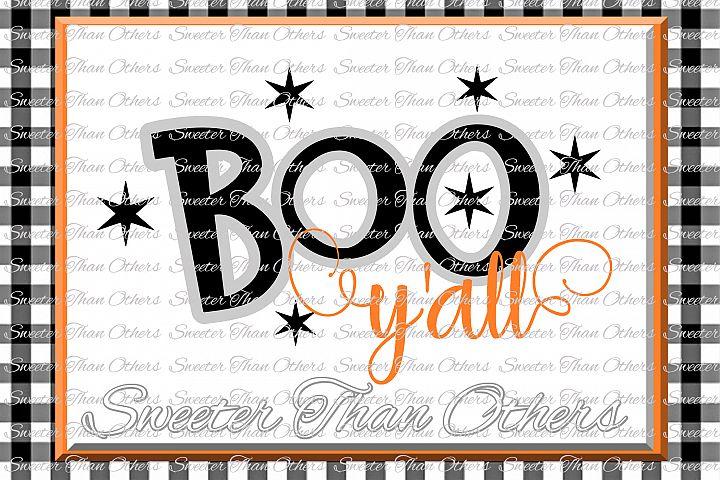 Halloween svg, Boo Yall Svg, Boo Ghost Design