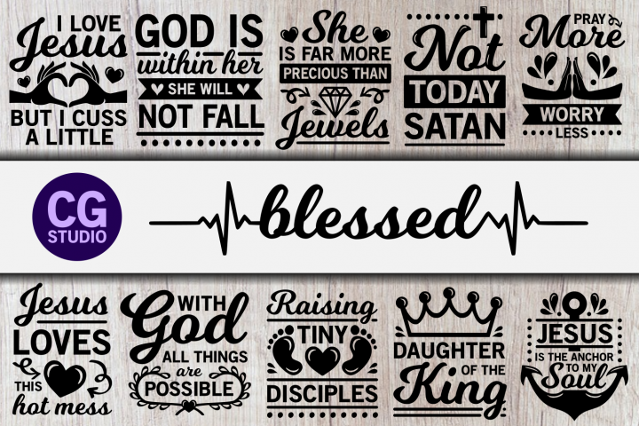 Blessed svg Bundle, Jesus svg, Christian svg, God svg, Bible svg, religious svg, religion svg, Christ svg, mom svg, mommy svg, mother svg