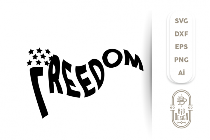 4th of july SVG - Freedom Flag Svg, Independence Day Svg