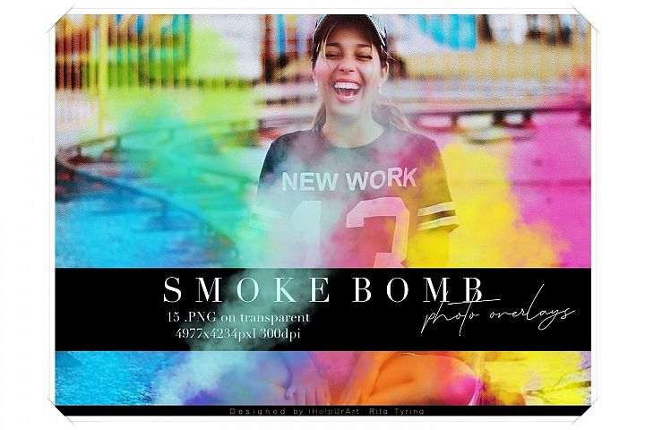 Smoke Photo Overlays - Colorful Smoke Clipart