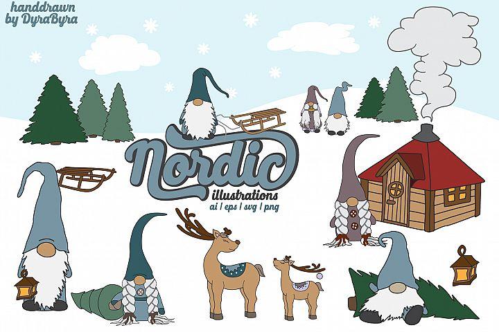 Nordic Gnomes - Fun Christmas Illustrations