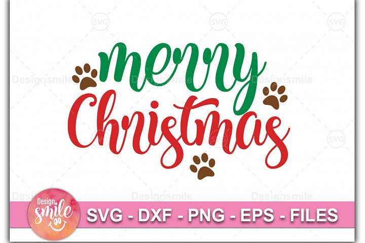 Merry Christmas SVG DXF PNG EPS Cutting Files