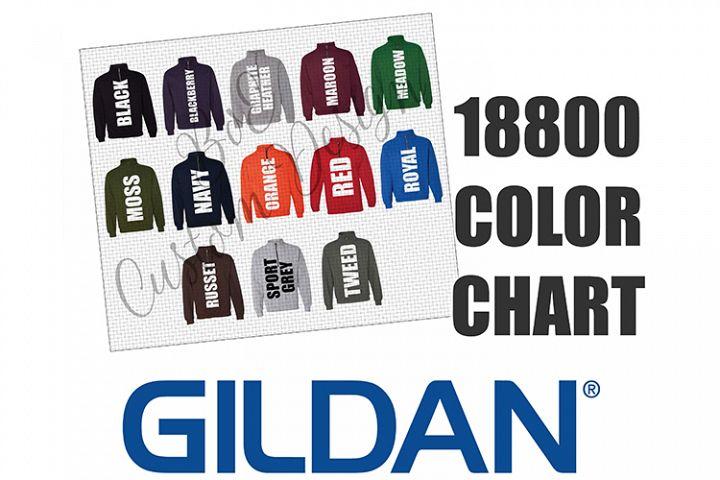 Gildan 18800 Quarter Zip Sweatshirt Color Chart