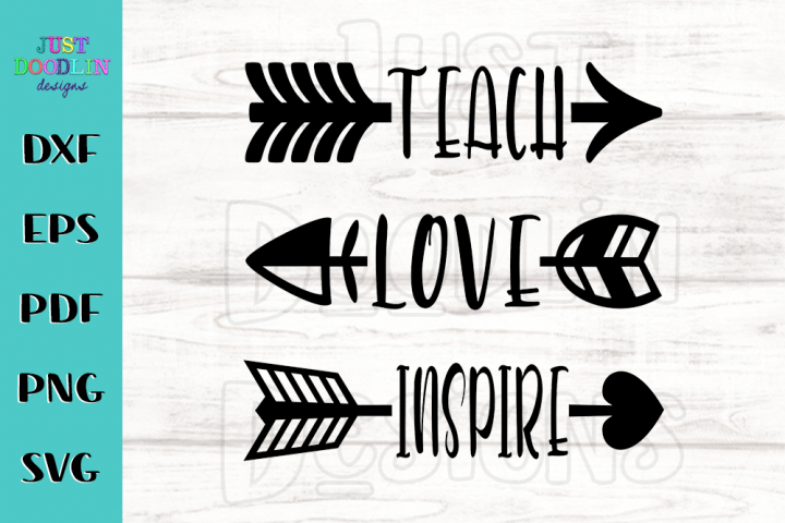 Teach Love Inspire SVG file
