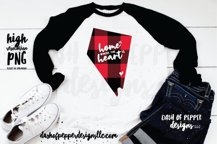 Nevada Home is Where the Heart is - A Plaid PNG