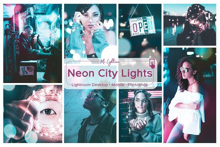 Neon City Lights Lightroom Desktop and Mobile Presets