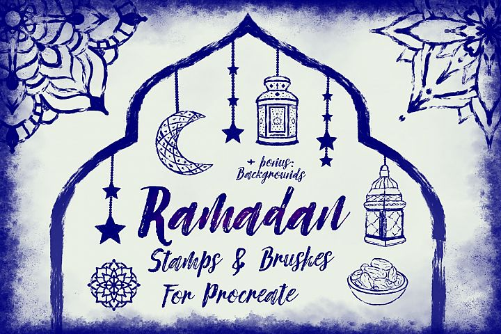 Procreate Ramadan Style Stamps and Brushes