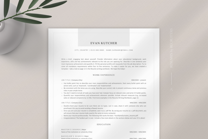 Modern ATS-friendly Resume Template, ATS-optimized CV Design