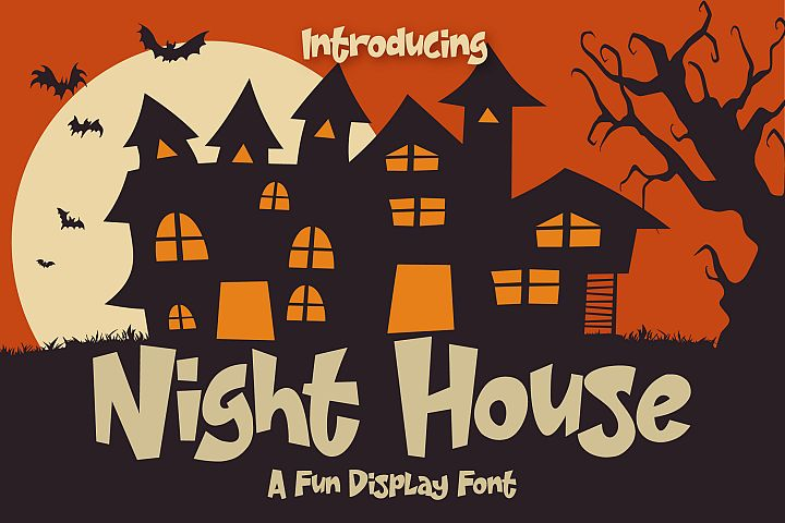 Night House - A Fun Display Font