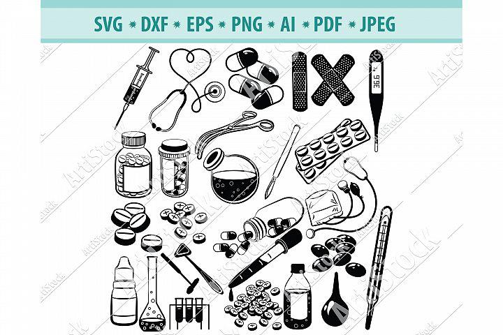 Medical SVG, Stethoscope Svg, Nursing Svg, Dxf, Png, Eps