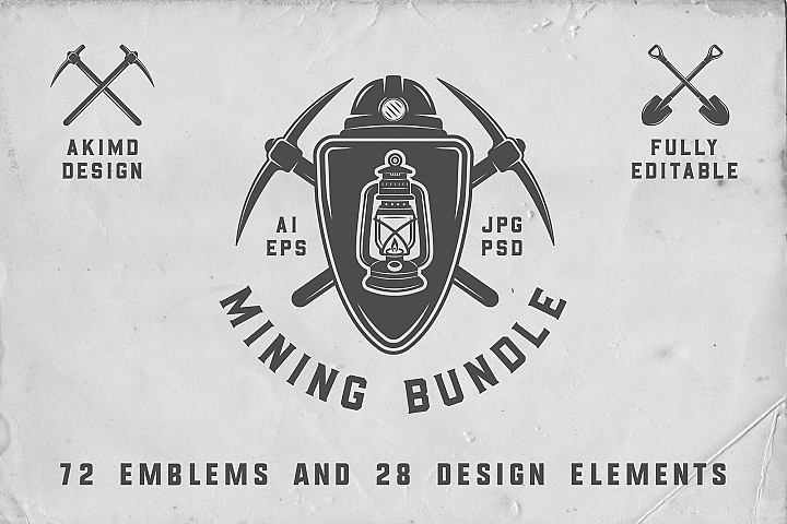 Mining Emblems Bundle