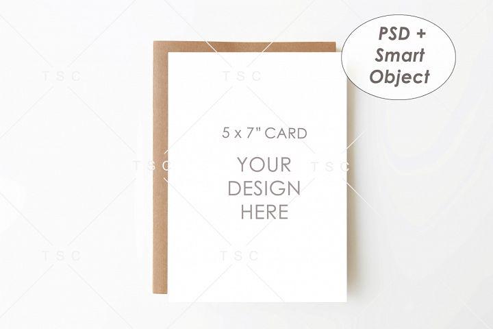 5 x 7 Card Mockup / Invitation Card / Save the date Card