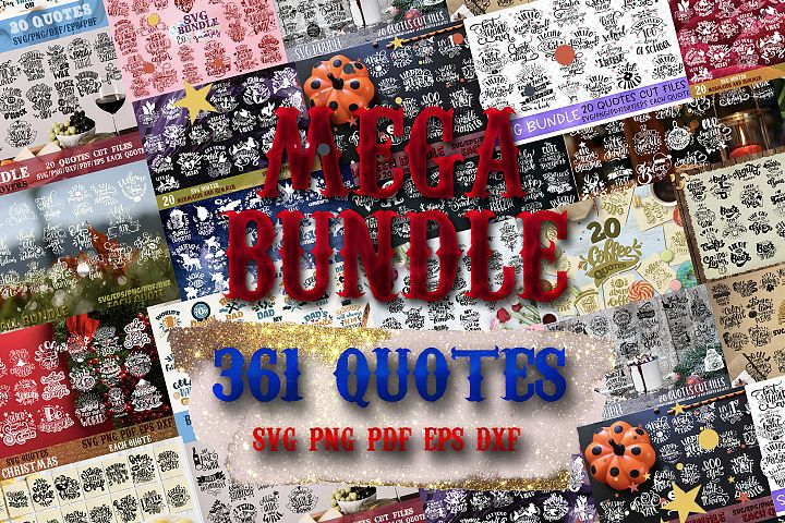 Mega BUNDLE BIG set of 361 quotes Christmas Halloween Wine