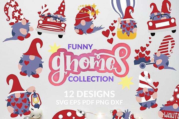 Gnome SVG bundle Gnomes design Valentine kids t-shirt