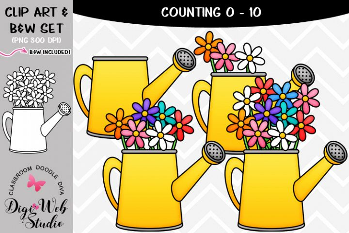 Clip Art / Illustrations - 0-10 Counting Flowers